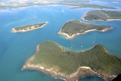 Kust av Queensland, Australien Arkivfoto