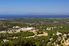 Kust av Rhodes Arkivbilder