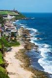 Kust av San Juan, Puerto Rico Fotografering för Bildbyråer