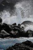 Kust av San Miguel, Azoresna royaltyfria foton