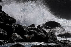 Kust av San Miguel, Azoresna arkivfoto