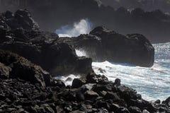 Kust av San Miguel, Azoresna royaltyfria bilder