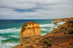 Kust av Stilla havet stor havväg apostlar tolv Fotografering för Bildbyråer