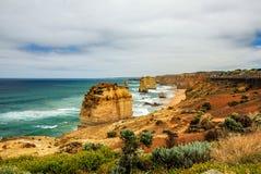 Kust av Stilla havet stor havväg apostlar tolv Arkivbild