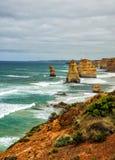 Kust av Stilla havet stor havväg apostlar tolv Arkivfoto