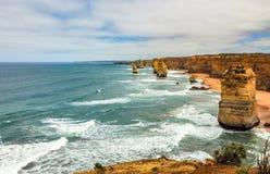 Kust av Stilla havet stor havväg apostlar tolv Royaltyfri Fotografi