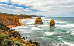 Kust av Stilla havet stor havväg apostlar tolv Royaltyfri Bild