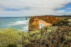 Kust av Stilla havet stor havväg apostlar tolv Arkivfoton