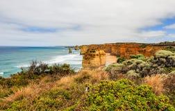 Kust av Stilla havet stor havväg apostlar tolv Royaltyfri Foto
