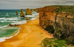 Kust av Stilla havet stor havväg apostlar tolv Royaltyfria Foton