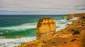 Kust av Stilla havet stor havväg apostlar tolv Royaltyfria Bilder