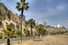 Kust- aveny i Lima Royaltyfria Bilder