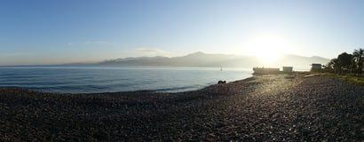 Kust Batumi för havsvatten georgia royaltyfria bilder