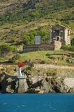 Kust- befästning i franskt medelhavs- Arkivbilder