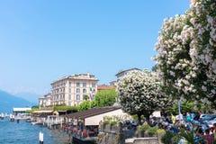 Kust- Bellagio stad Fotografering för Bildbyråer