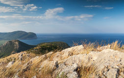 Kust- berglandskap för Adriatiskt hav Royaltyfri Bild