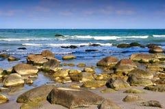 Kust bij Kaap Arkona (Duitsland) Stock Afbeelding
