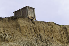 Kust- Cliff Structure Royaltyfri Fotografi