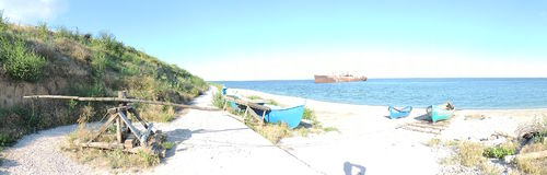 kust Costinesti, Roemenië De Zwarte Zee Stock Afbeeldingen