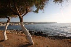 kust crete arkivfoton