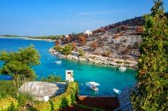 kust croatia Arkivfoto