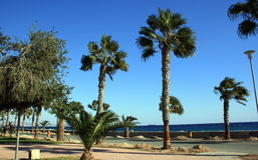 kust- cyprus arkivfoto