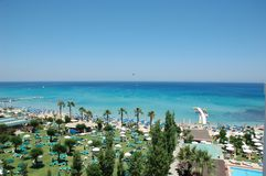 kust cyprus Arkivfoto