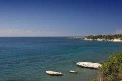 kust- cyprus lanscape Royaltyfri Foto