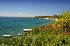 kust- cyprus lanscape royaltyfri fotografi