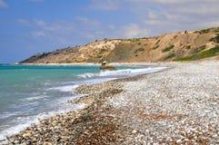 kust- cyprus lanscape arkivbilder
