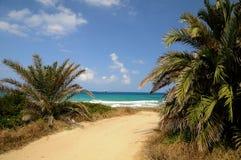 kust- cyprus lanscape gömma i handflatan under Fotografering för Bildbyråer