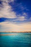 Kust in de stad Hurghada. Royalty-vrije Stock Afbeelding