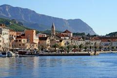 Kust in de stad van Makarska Stock Foto