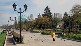 Kust in de stad van Samara, Russische Federatie royalty-vrije stock afbeelding