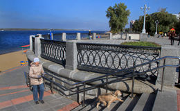 Kust in de stad van Samara, Russische Federatie stock foto