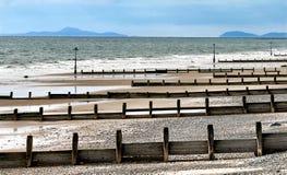 Kust door Tywyn, Noord-Wales, het Verenigd Koninkrijk stock foto