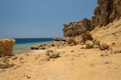 Kust in Egypte Rode Overzees Stock Foto