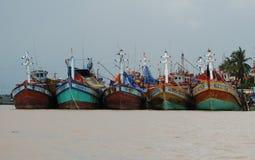 Kust en haven in Vietnam Stock Afbeelding