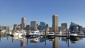 Kust en promenade in Baltimore stock foto's