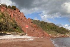 Kust- erosion arkivfoton