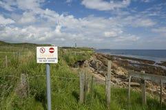 Kust- erosion, St. Monans, Fife Royaltyfri Fotografi