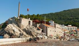 Kust- fästning i Petrovac, Montenegro royaltyfria bilder
