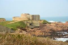 Kust- fästning WW2 Guernsey Kanalisera öar Arkivbilder