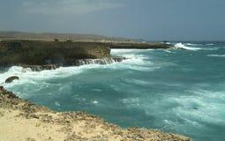 kust för 4 aruba Arkivfoton