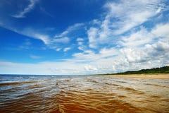Kust för baltiskt hav Arkivfoto