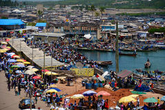Kust för Elmina slottGhana udde Fotografering för Bildbyråer
