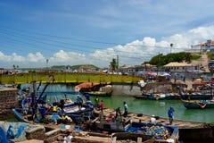 Kust för Elmina slottGhana udde Royaltyfria Bilder