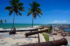 Kust för Elmina slottGhana udde Arkivbild