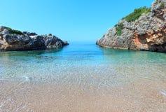 Kust för Ionian hav för sommar, Albanien royaltyfri foto
