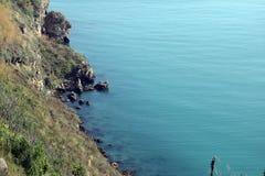 Kust för Kaliakra havssikt royaltyfri bild